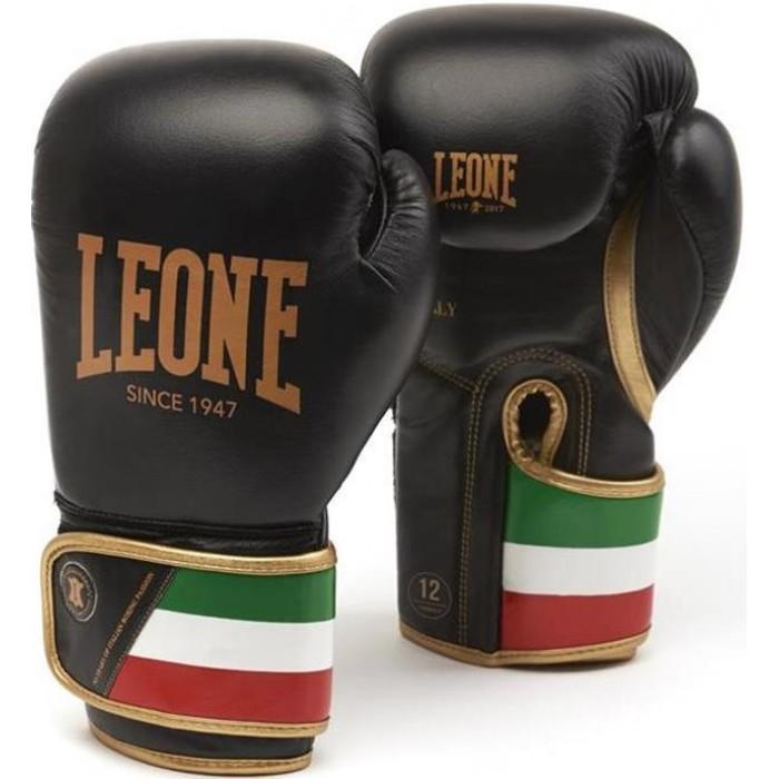 Боксерские перчатки Leone Italy Black 10 oz
